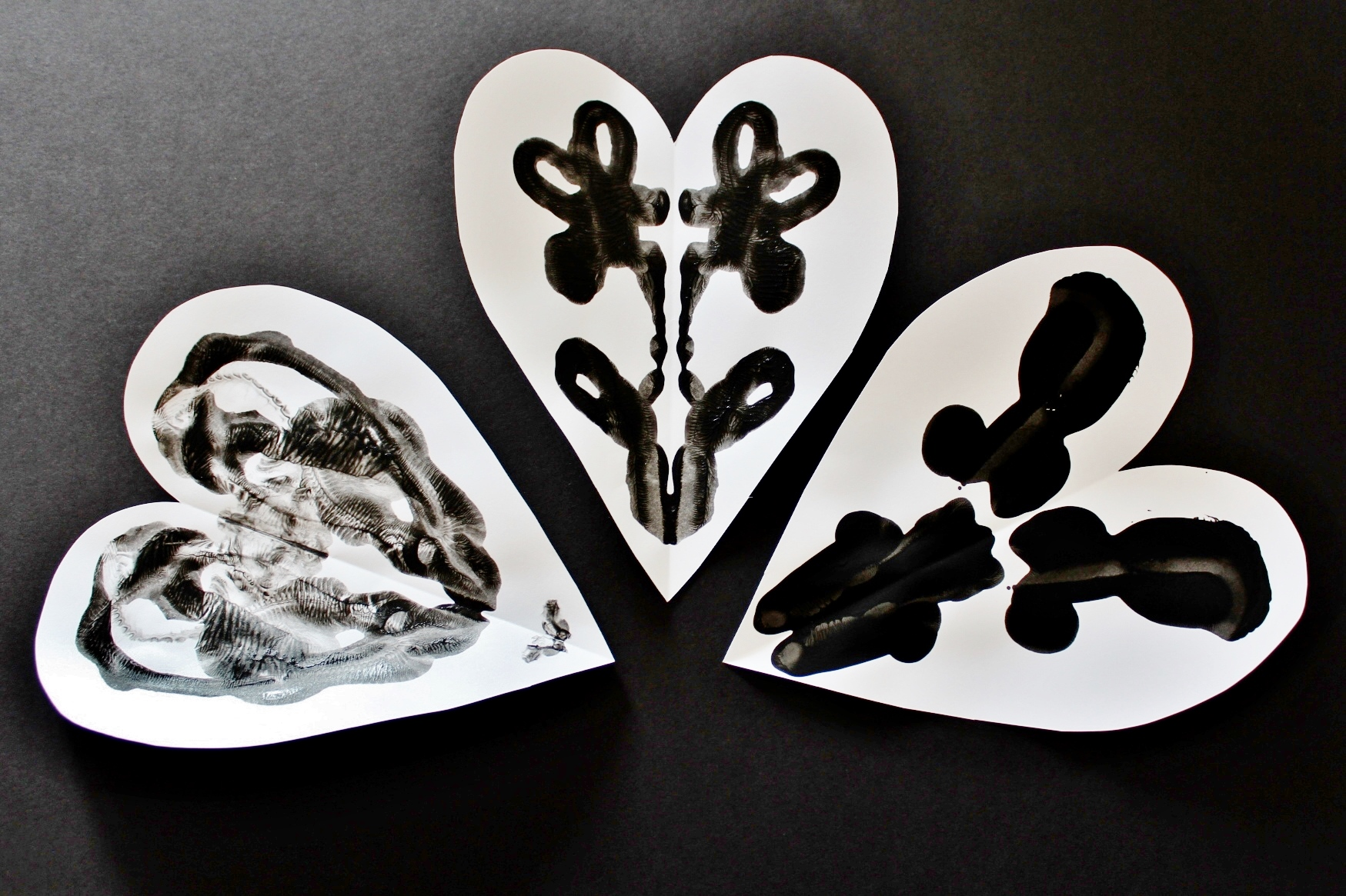 Rorschach Hearts.  Oh Happy Play